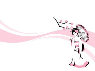 Geisha Wallpaper by Tabbathehutt