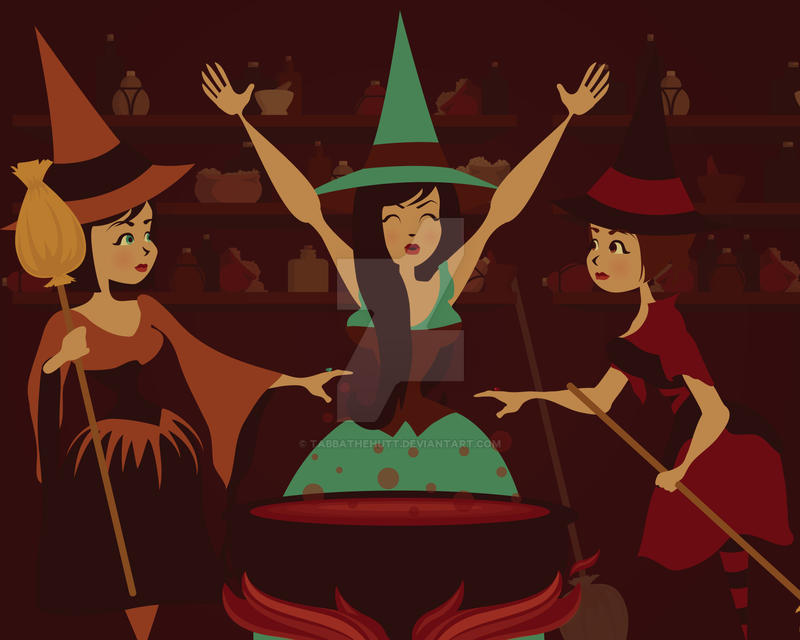 Three Witches by Tabbathehutt