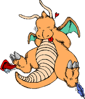 Dragonite in TICKLE ZONE by cicadamarionette