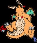 Dragonite in TICKLE ZONE