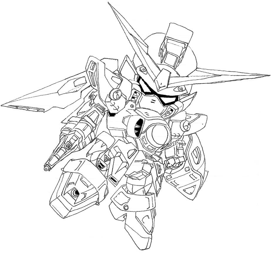 Sd wing gundam by domo san on deviantart for Wing coloring pages