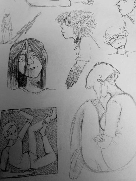 more sketchbook doodles by spaghottie