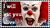 I WILL EAT YOU ALIVE stamp by Sahkmet