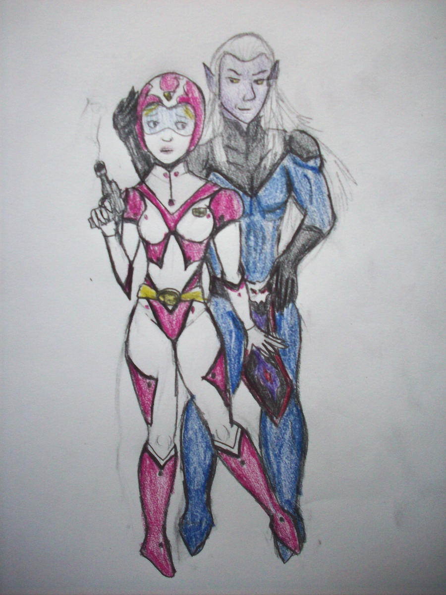 Lotor and Allura by Sahkmet