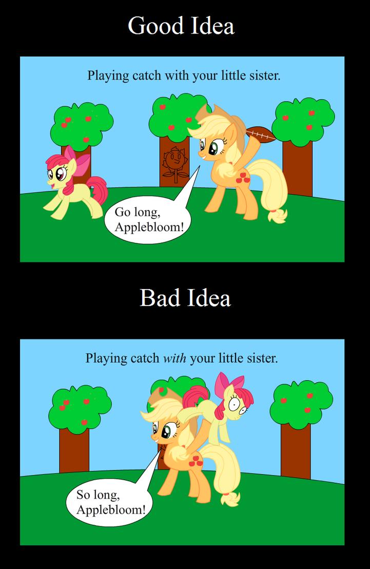 Good Idea Bad Idea Applejack By Animegx43 On Deviantart