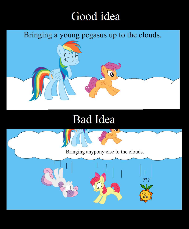 Good Idea Bad Idea Rainbow Dash By Animegx43 On Deviantart