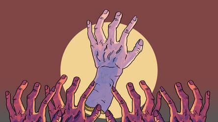 Screens of Terror 'hands of narcism' [5k WP]