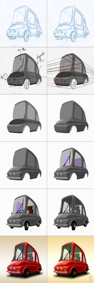 One seat car step by step process