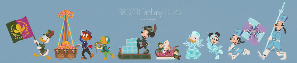 FROZEN Fantasy parade Mickey and firiends by sac2422