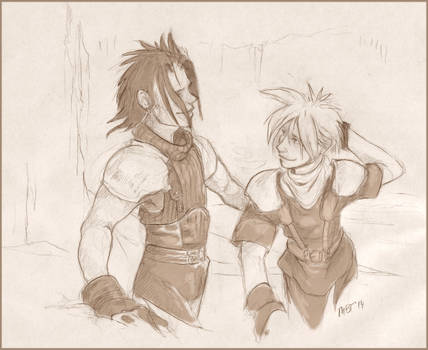 Zack and Cloud: Stick With Me by talonserena