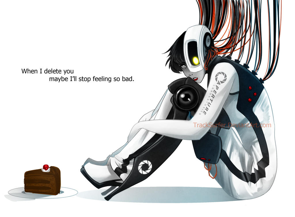 GLaDOS misses Chell by TrackSurfer