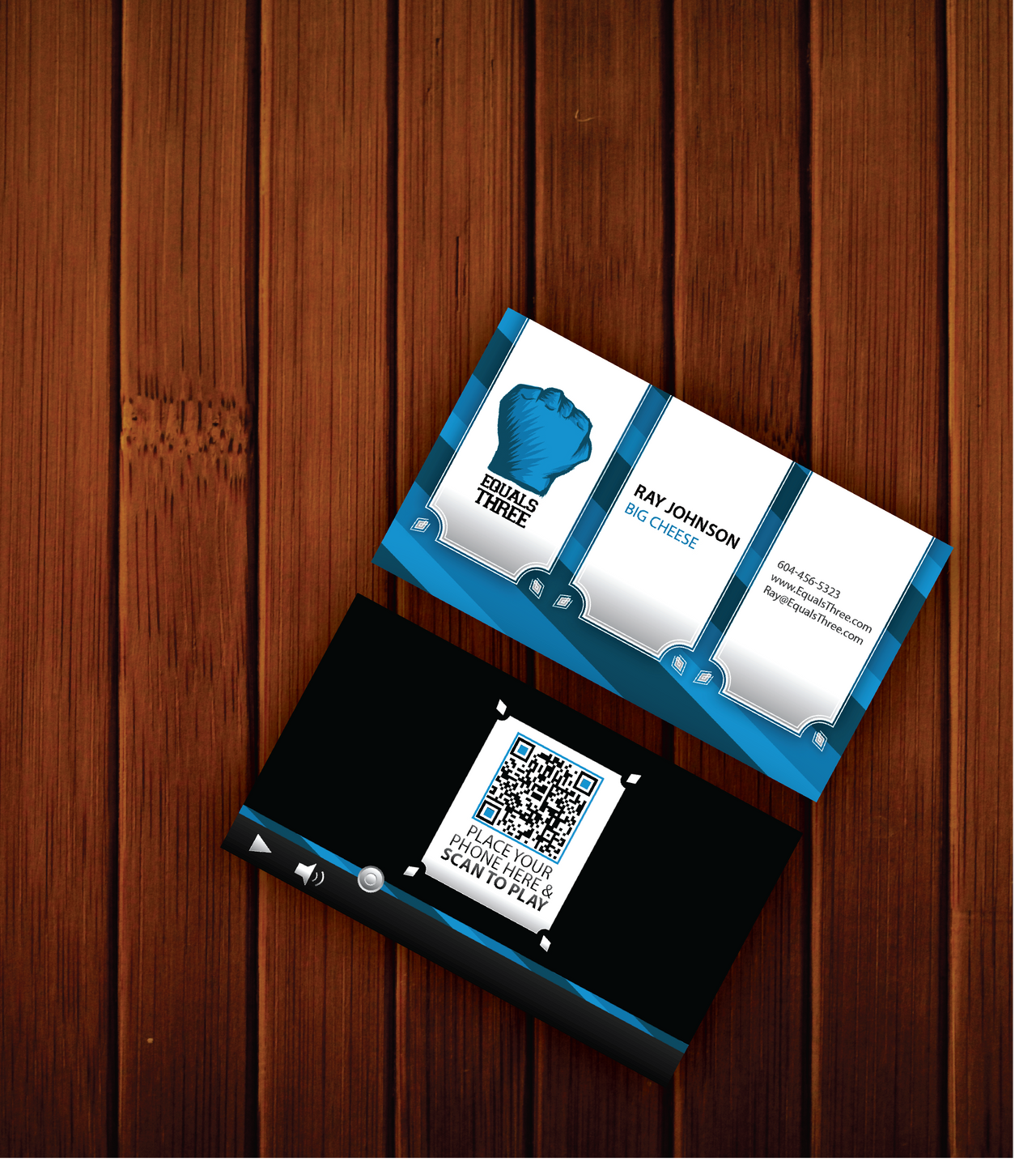 Equals Three Business Card Concept