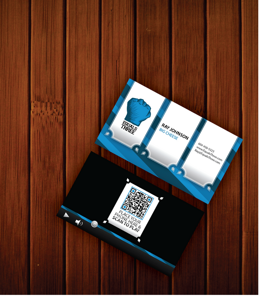 Equals Three Business Card Concept by MeanCarcass