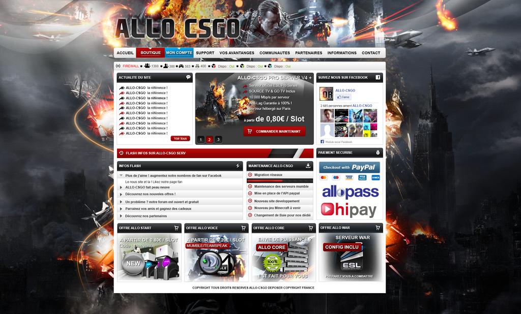 Template Gamehosting csgo by ak47fr on DeviantArt