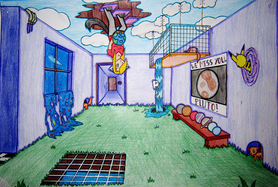 Surreal Room: colored by tabbycat1212 on DeviantArt