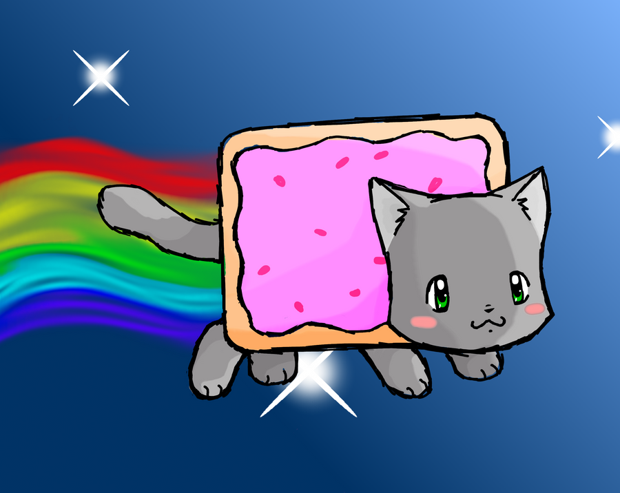 Nyan Cat by tabbycat1212 on DeviantArt Tabby Cat Cartoon Drawing