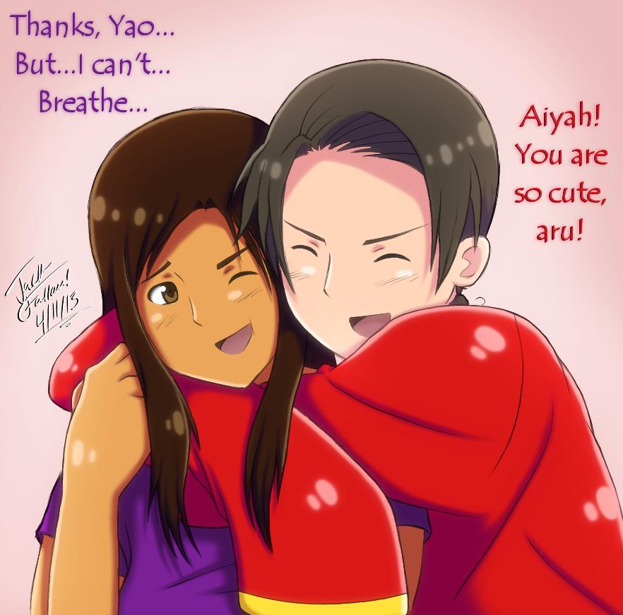 Request tight china hug by tabbycat1212 on deviantart - Tight hug wallpaper ...