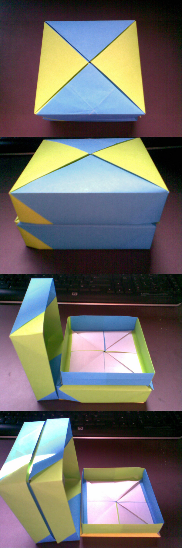 origami tower box by heyro0 on deviantart