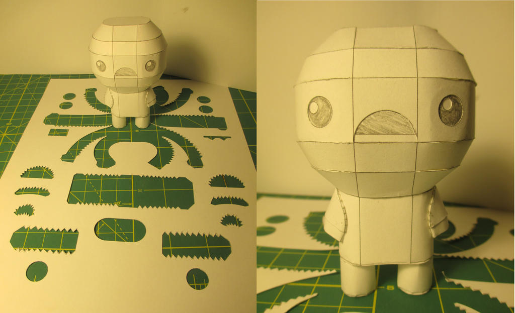 WIP: Isaac Papercraft by Heyro0