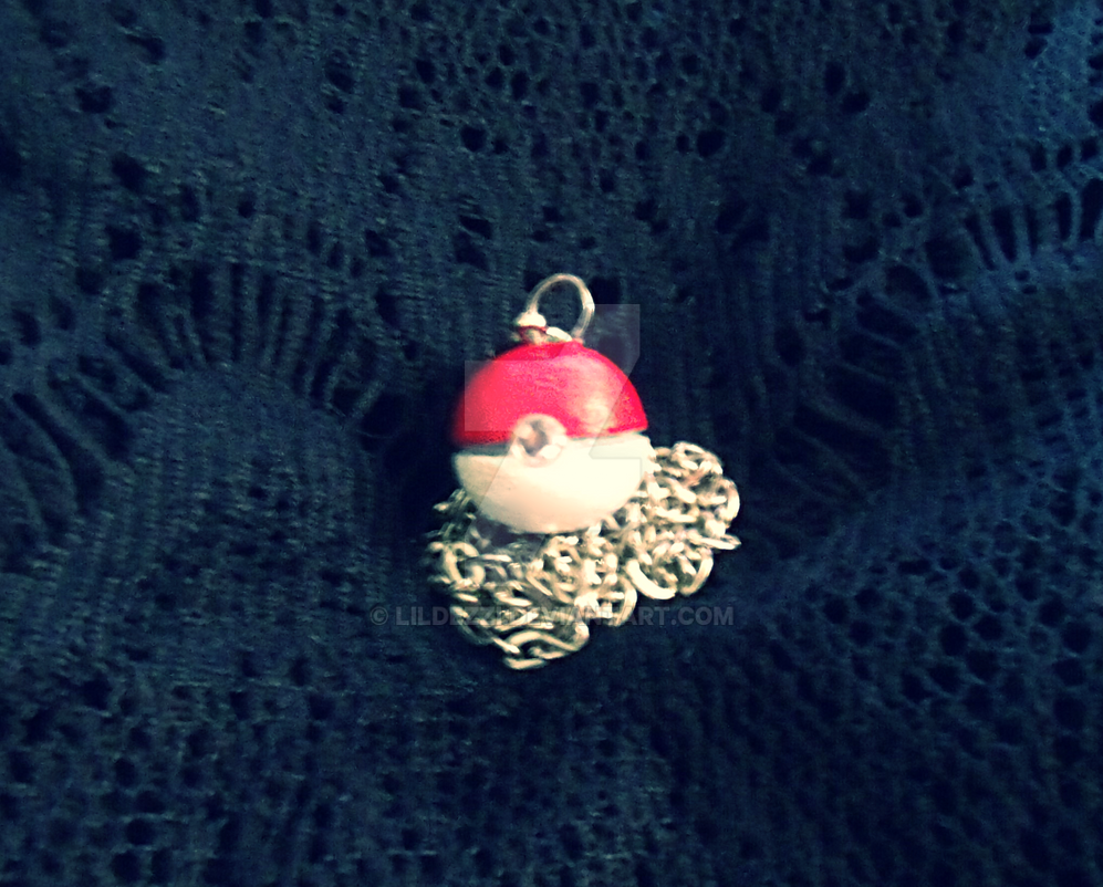 Pokeball Necklace/Charm by LilDezzi