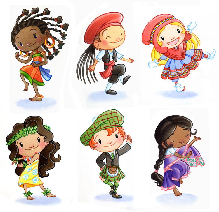 children around the world 1 by ketari on deviantart Earth with People Holding Hands Flags around the World Clip Art