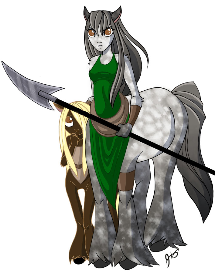 Drawing Challenge 2--Centaurs by ketari