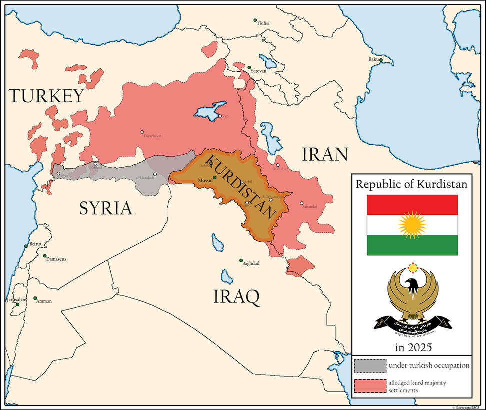 Kurdistan 2025 by Sovereign2808 on DeviantArt on israel world map, turkey world map, nyc world map, scotland world map, balkans world map, lebanon world map, serbia world map, golan heights world map, mali world map, germany world map, rwanda world map, gaza on world map, south ossetia world map, palestine world map, george world map, kobani world map, taiwan world map, iceland world map, kazakhstan world map, chad world map,