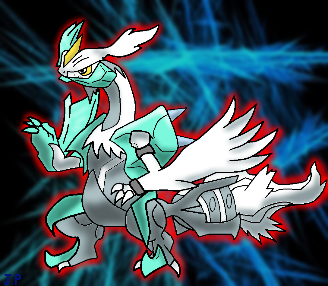 The Blazing White Kyurem! by dreamin-8-bit