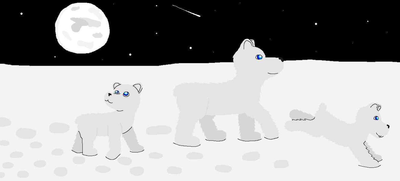 Polar Bear family by Dooddles