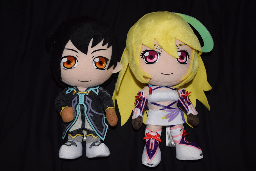 Tales of Xillia's Jude and Milla Plushies by HannahDoma