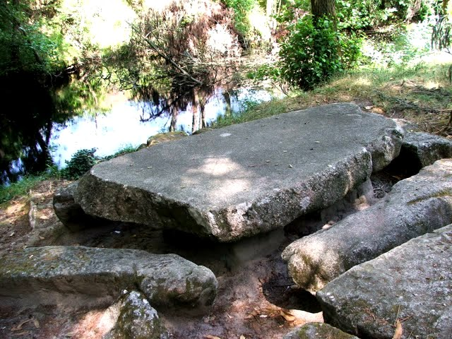 Stone Picnic Table By MercyWaters On DeviantArt - Stone picnic table