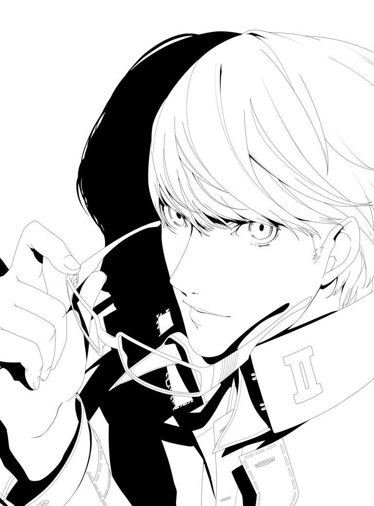 Persona 4 Protagonist Lineart by Izanagi-0XXI on DeviantArtIzanagi No Okami Wallpaper