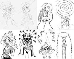 index card doodles by gypsygirlpress