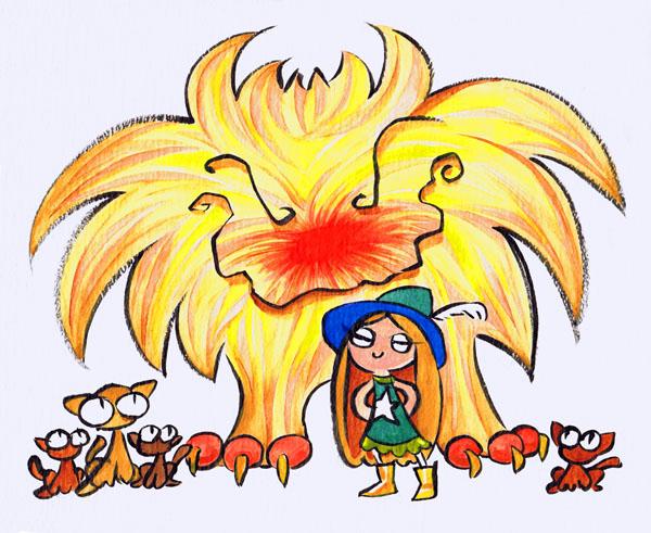 Monstergirl by gypsygirlpress