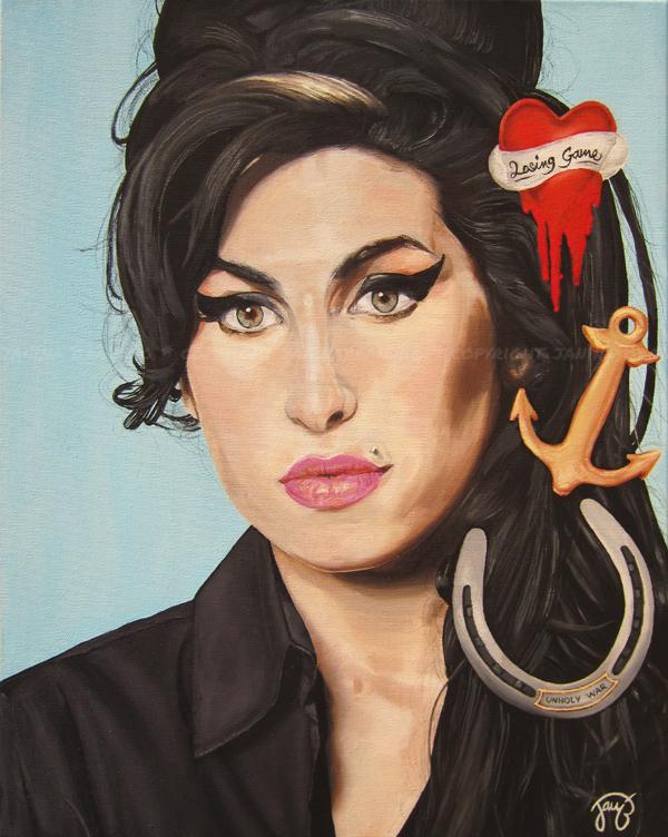 Amy Winehouse by JanitA