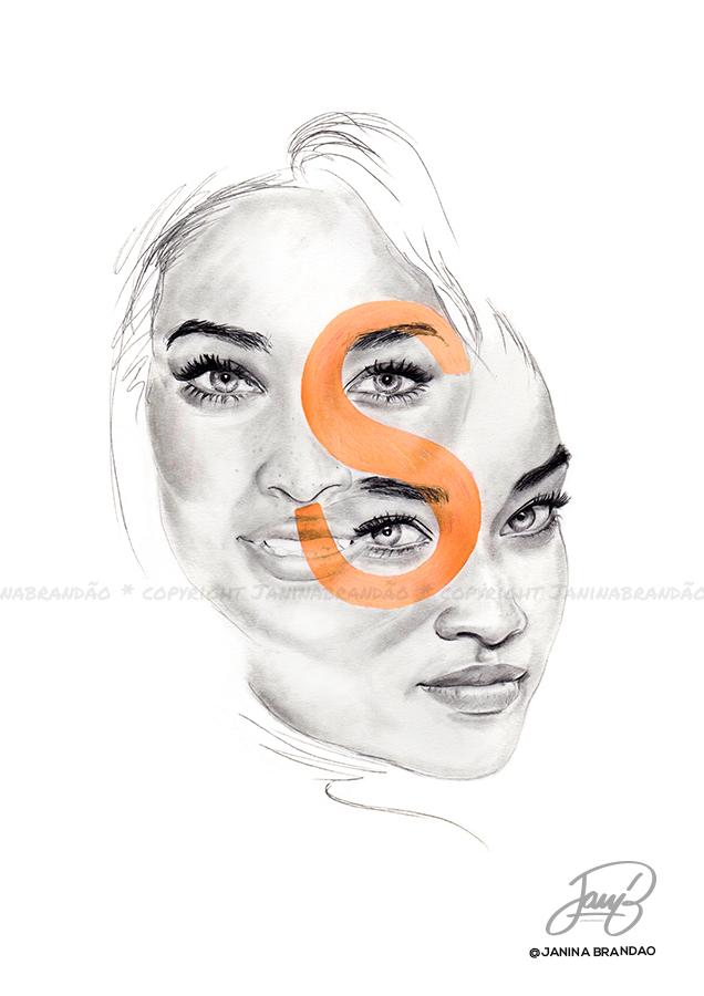 S is for Shanina Shaik by JanitA