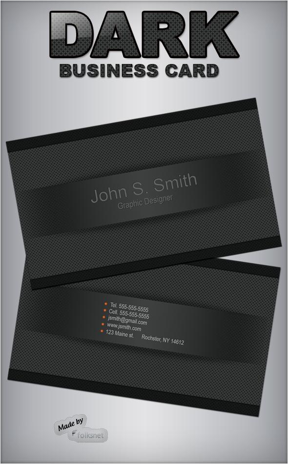 Dark Business Card by GrDezign