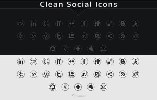 Clean Social Icons