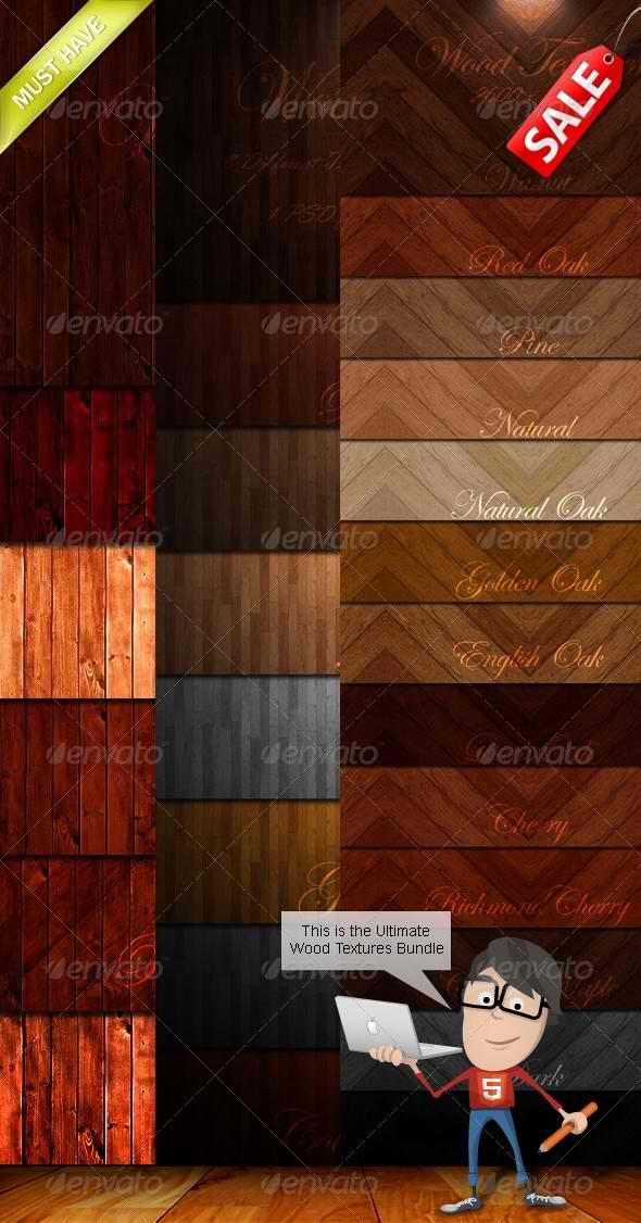 Wood Textures Bundle by GrDezign