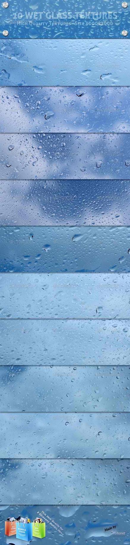 Wet Glass Textures by GrDezign
