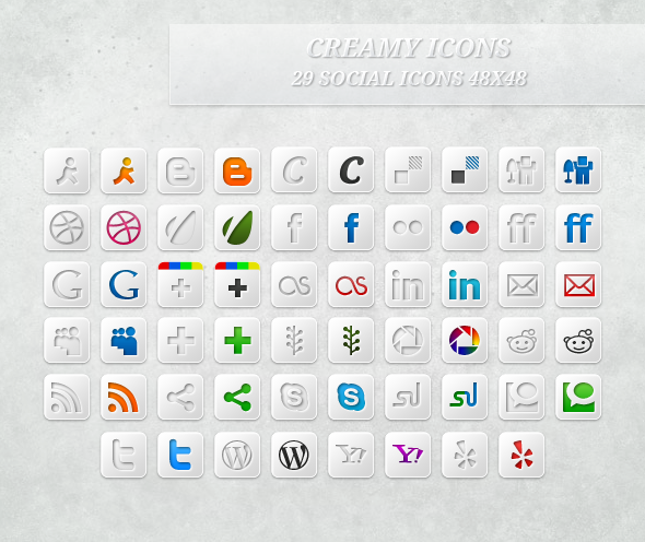 Download 100% Free Creamy Icons