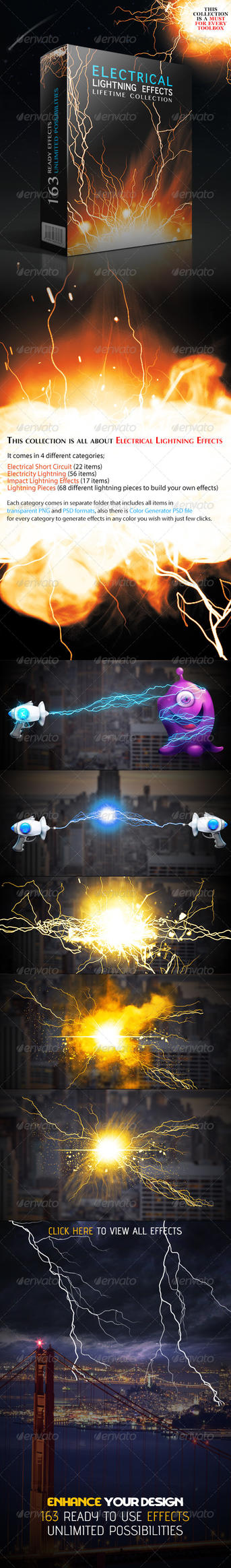 Electrical Lightning Effects by GrDezign