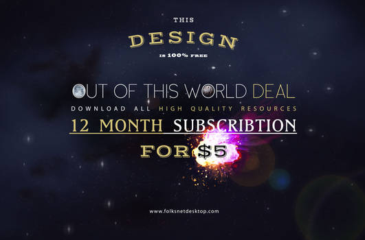 Out Of This World Deal