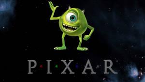 Pixar Mike in Space Mascot
