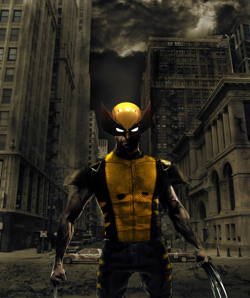 hugh jackman wolverine with costume by DavieSal on DeviantArt