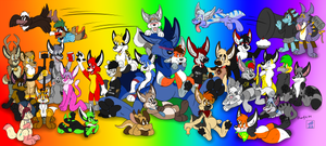 Rainbow of Plushies (Version 2)