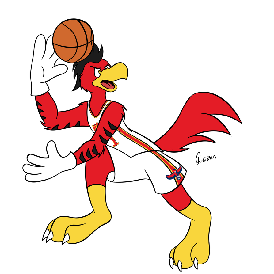 NBA Mascots - Harry the Hawk by Bleuxwolf on DeviantArt