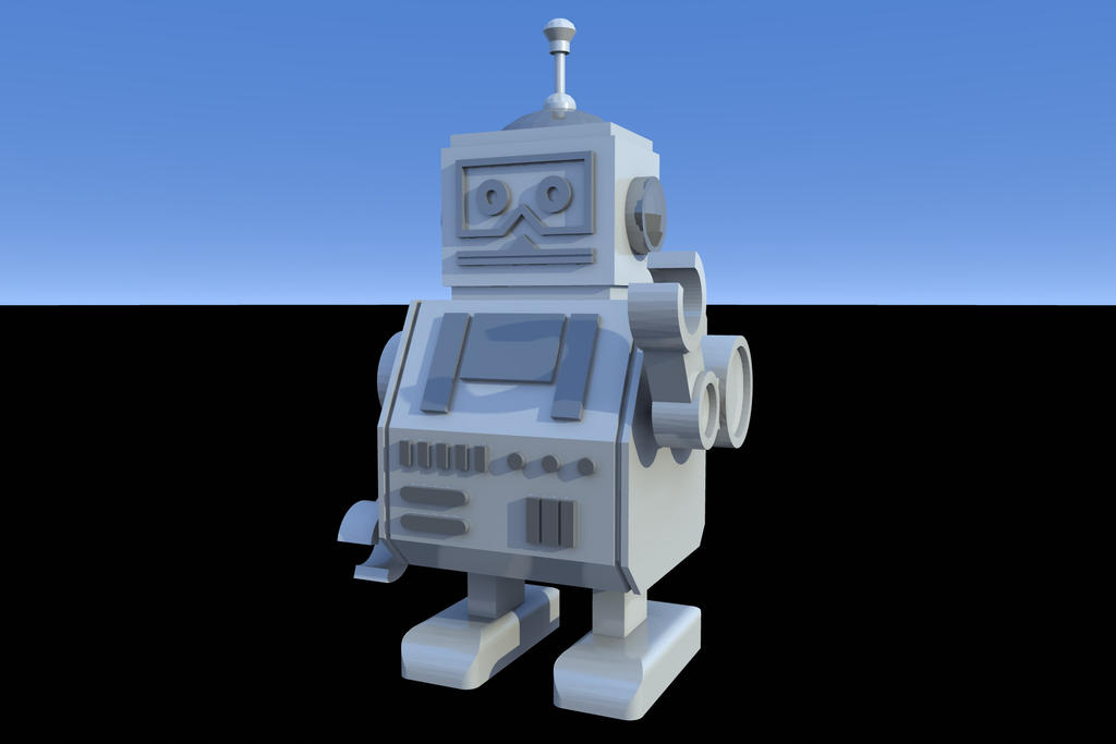 Retro Robot by keep-it
