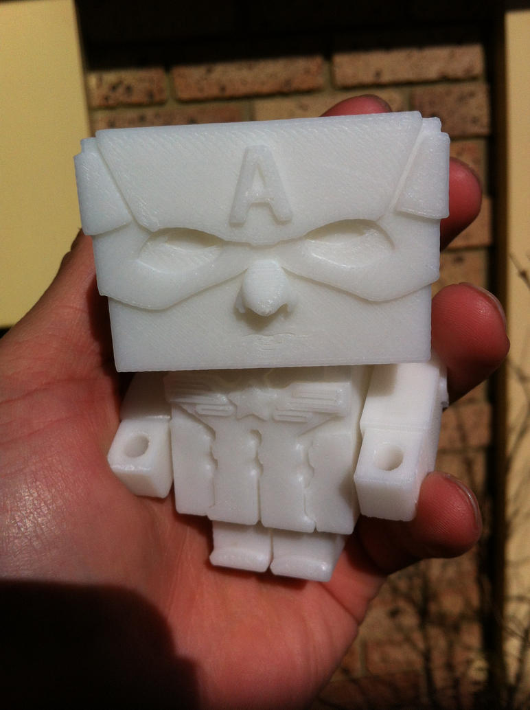 Captain America 3d Printed. by keep-it