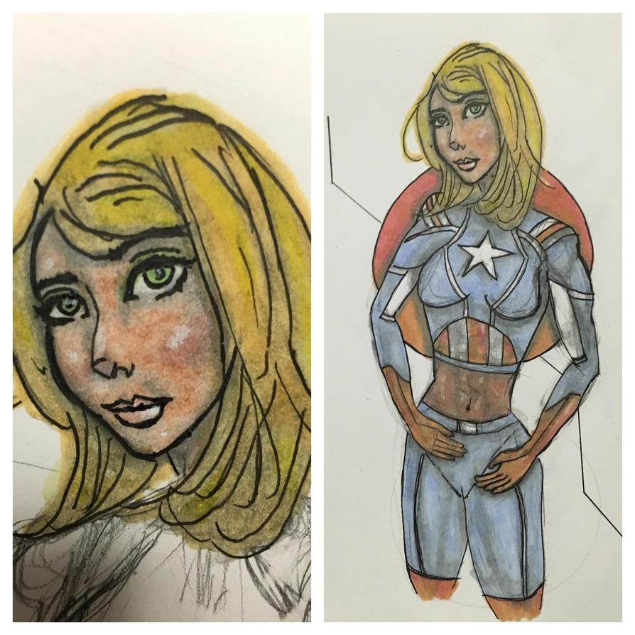 Captain America (gender swap) by keep-it